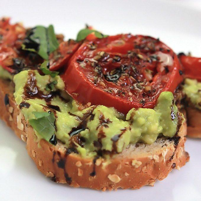 Roasted Tomato Avocado Toast