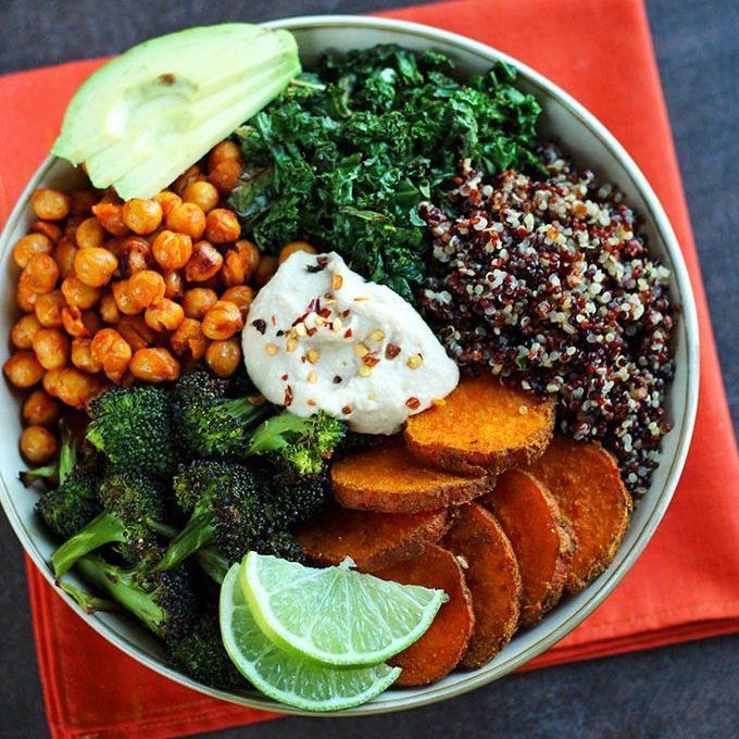 Cuban Quinoa Bowl With Spicy Lemon Cashew Dressing