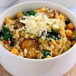 Spinach And Mushroom Quinoa Bowls