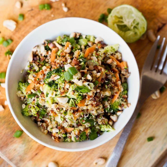 Thai Veggie Quinoa Bowl Recipe (Gluten-Free, Vegan)
