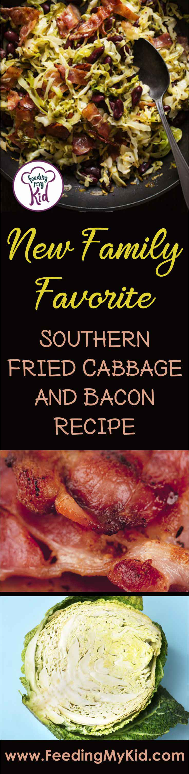 Simmer up this Southern Bacon and Fried Cabbage Recipe for tonight's family meal. Fried cabbage and bacon is the best thing since... well... bacon!