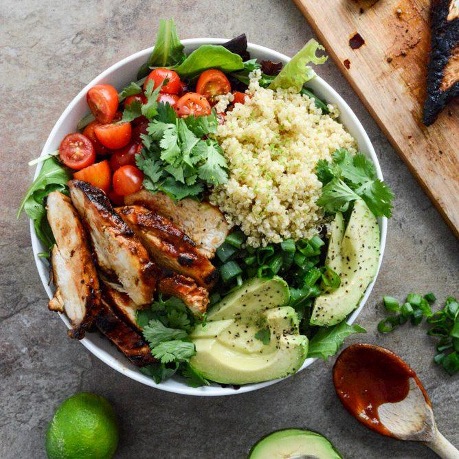 Honey Chipotle Chicken Bowls.
