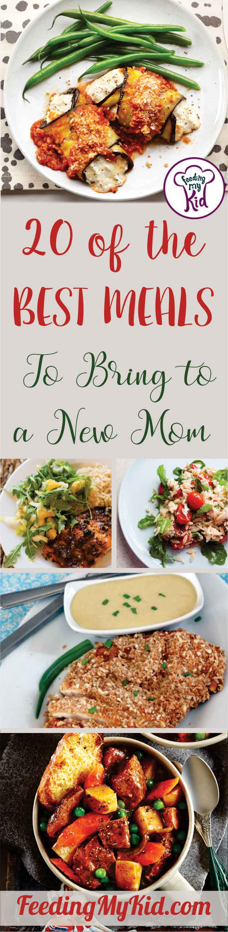 If you know someone who just recently became a new mom, why not try making a homemade meal for her? She'll love these easy meals for new moms