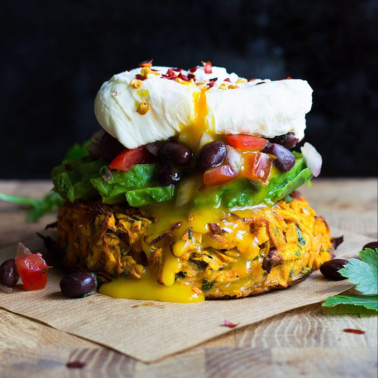 Oven Baked Sweet Potato Rosti