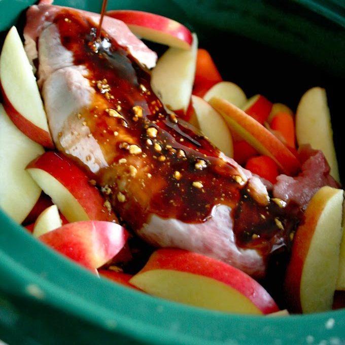Slow-Cooker Apple Maple Pork Tenderloin