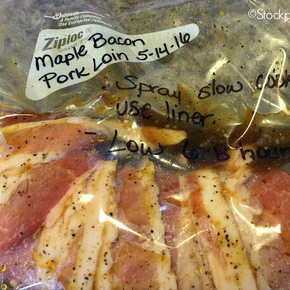 Slow Cooker Maple Bacon Pork Loin Recipe