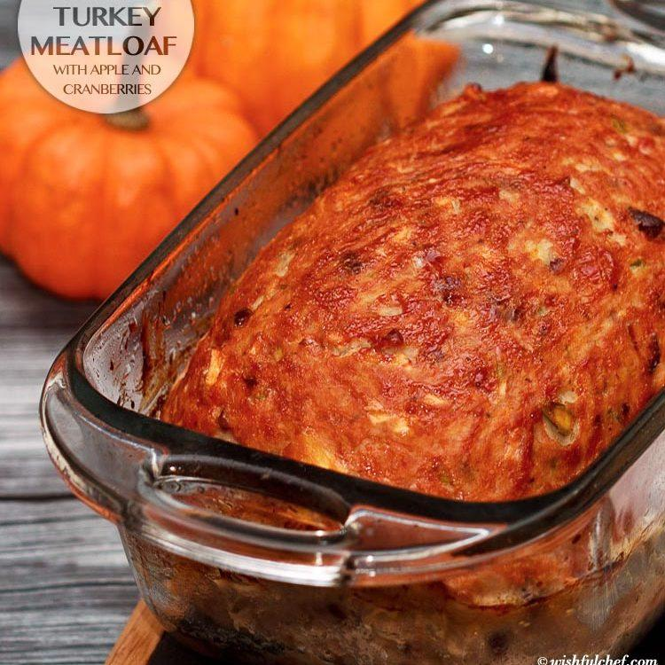 Turkey Meatloaf with Apple and Cranberries