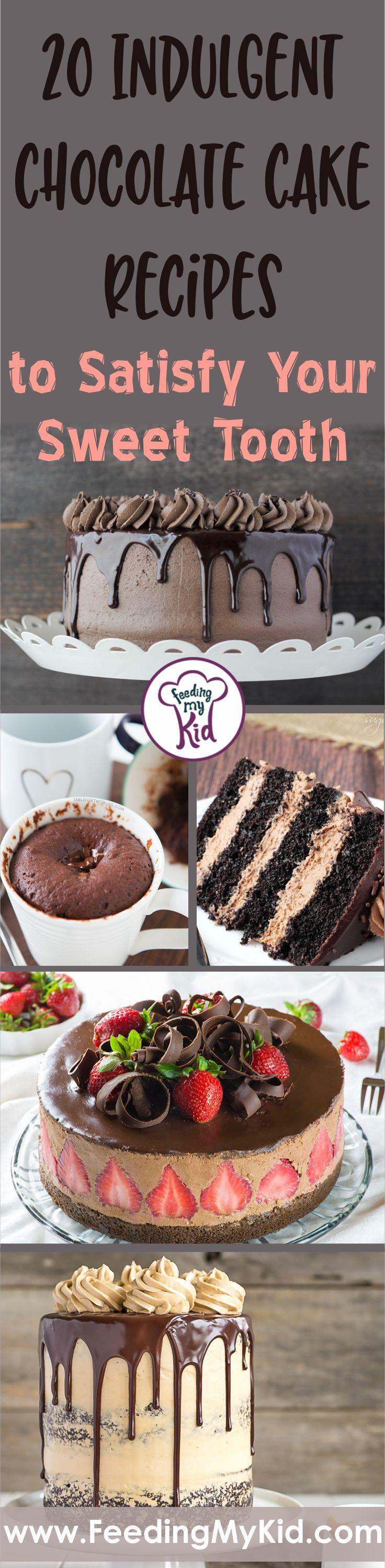 These chocolate cake recipe ideas are too good! If you have a sweet tooth for chocolate, these are for you! From fudgy to strawberry to lava cakes - yum!
