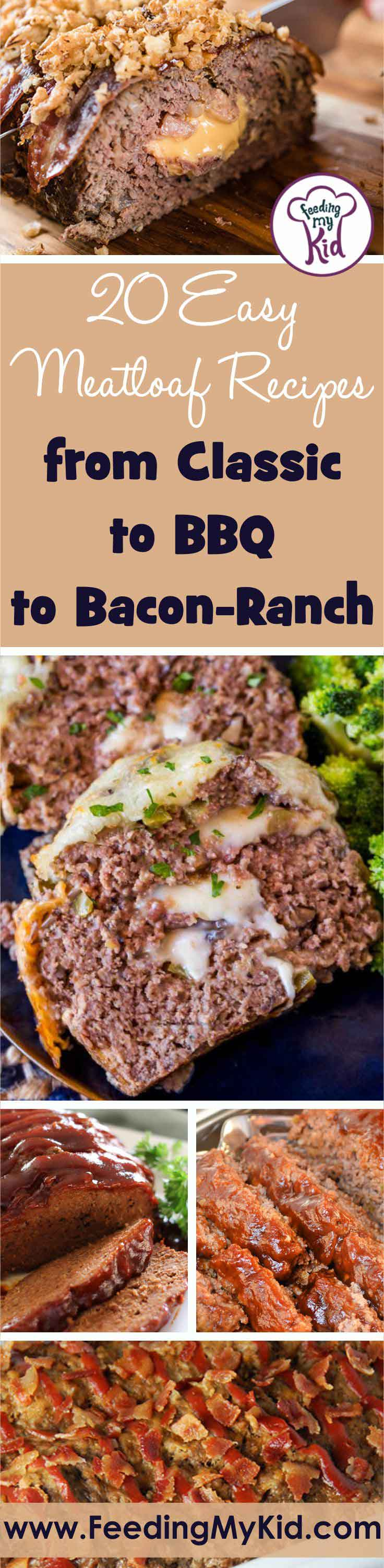 Meatloaf is one of those classic weeknight dinners we all grew up with. These meatloaf recipes are nothing like what you grew up with! So yummy.