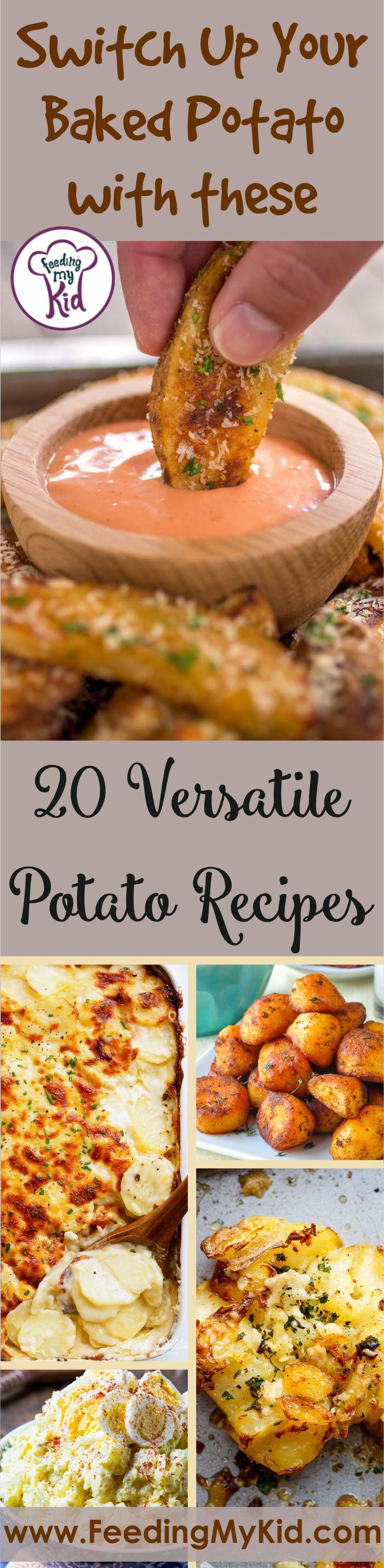 Tired of that boring baked potato? These potato recipes are so versatile that you'll never get bored! They pair perfectly with a variety of dishes.