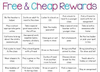 Non-Food Rewards for Classrooms